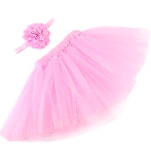 (Kanggest Baby Mädchen Kostüm Baby Prop Fotografie,Foto Fotografie Outfits Baby Kostüm Tütü Rock mit Kopfband Festzug Kleidung)