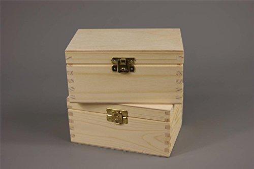 NEU NATURBELASSENES HOLZ - SCHMUCKKASTEN SCHATULLE AUFBEWAHRUNGSBOX 15 DECOUPAGE HANDWERK HOLZBOX - Unfinished Holz Box Handwerk