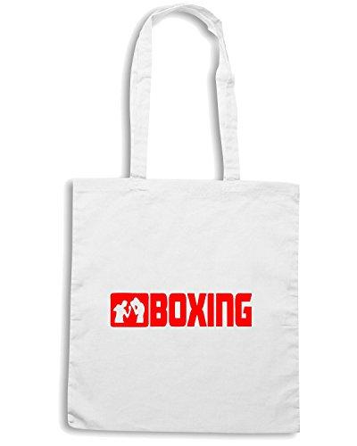 T-Shirtshock - Borsa Shopping TR0032 Boxing T-Shirt Bianco