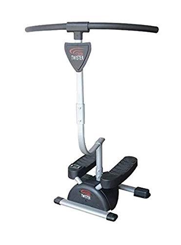 Fitness House Cardio Twister Aparato de Abdominales, glúteos y piernas, Adultos Unisex, Negro, Talla Única