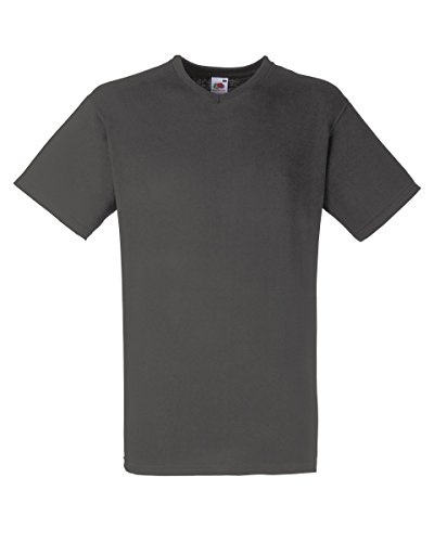 Fruit of the Loom Valueweight V-Ausschnitt Tee Light Graphite