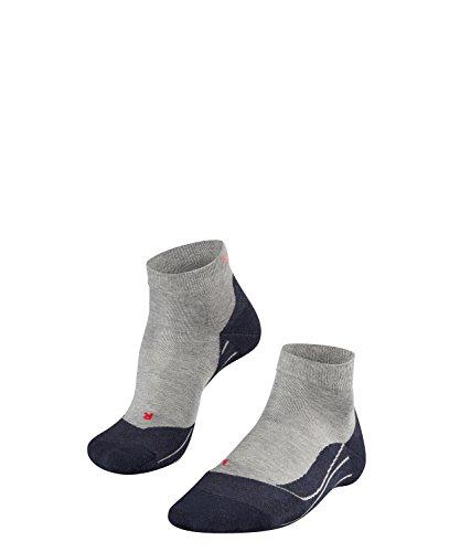FALKE Damen Socken Laufsocken RU4 Short - 1 Paar, Gr. 39-40, grau, feuchtigkeitsregulierend, Sportsocken Running