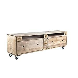 Palettenmöbel Kommode in Palettenoptik Vintage gebeizt. Jedes Möbel ein Unikat und in Deutschland hergestellt.