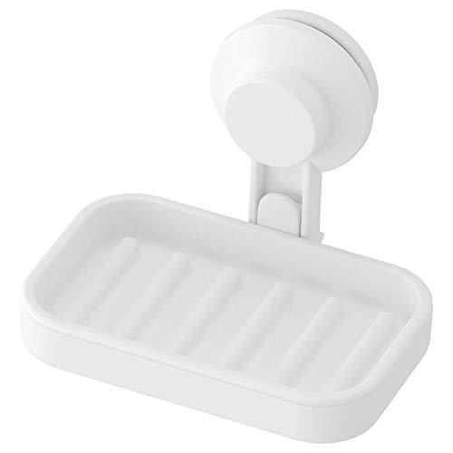 IKEA Seifenschale AISA TISKEN mit Saugnapf, Weiß