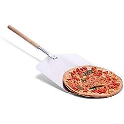 Culinario Accessoires à pizza pour la maison Pelle à pizza, pierre à pizza et couteau à pizza Différents sets au choix, Aluminium, Longueur de manche : 43 cm