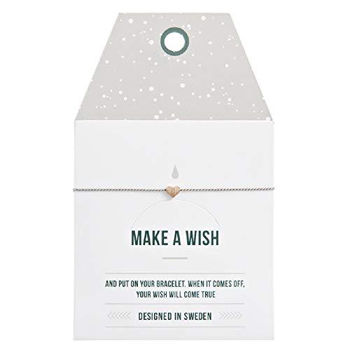 Mint TIMI of Sweden Wunschkarte Small Matte Heart Herz Armband Silk roségold grau schwarz Freundschaftsarmband Make a Wish -