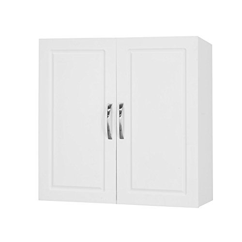 Sobuy® armadietto pensile da bagno,mobile da parete per il cucina,con due ante, frg231-w,it