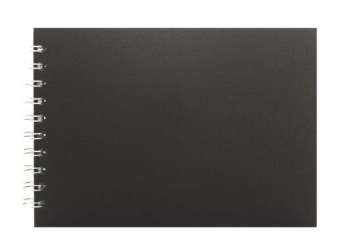 g A5quer, Papier Off-White, Einband schwarz (Pig-craft)