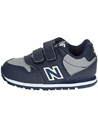 New Balance KV500 VBI Blu Grigio Scarpe Bambino Strappi Sneakers