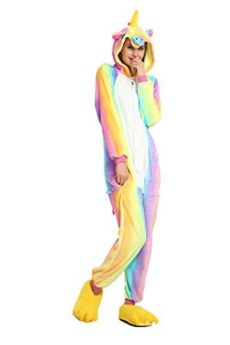 Rainbow Unicorn Unisex Adultos Pijamas Unicornio Animal