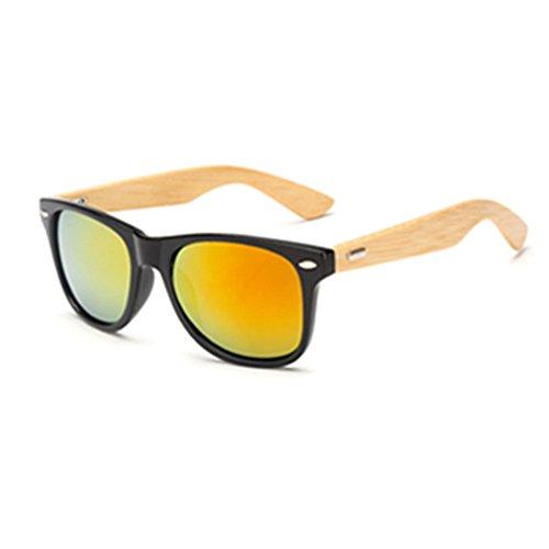 Preisvergleich Produktbild youfan Sonnenbrille,  Bambus Holz Arme Sonnenbrille für Frauen Herren,  rot