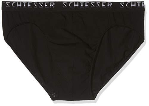 Schiesser Herren Slips, 3er Pack, Schwarz (Schwarz 000), 8 (Herstellergröße:XX-Large)