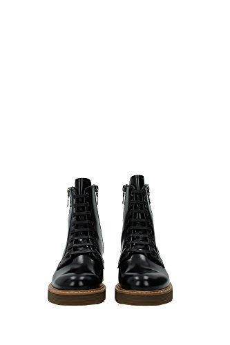3T5881NEROAMBRA Prada Chaussure mi montantes Femme Cuir Noir Noir