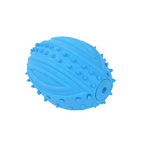 wwzEITpV 1pcs Puppy Toy Nette Rugby Design Hund Quietschende Spielzeug-Weiche Gummi Welpen Kauen Spielzeug Für Spielzeit Zahnpflege Zufällige Farbe -