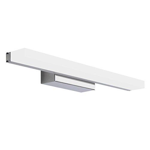 LEDMOMO LED-Badezimmer-Eitelkeits-Licht, 23.5 Zoll Verfassungs-Kosmetik-Spiegel-Licht-Lampe LED-Wand-Kabinett-Licht-weißes Licht-Badezimmer-Spiegel-Beleuchtung mit Edelstahl-Basis (weiß)