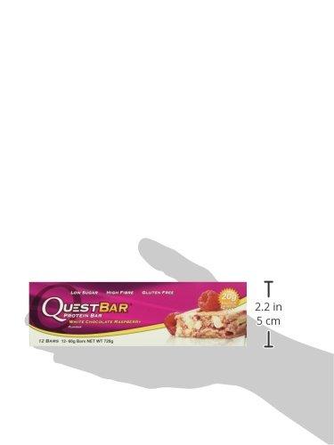 Quest Nutrition Protein Bar White Chocolate Raspberry 12 x 60 g, 1er Pack (1 x 720 g)