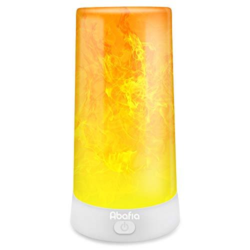 Preisvergleich Produktbild Abafia Tischlampe Nachttischlampe,  Flamme Lampe mit Tragbare USB Ladegerät Campinglampe IP44 Wasserdicht Drei Beleuchtungsmodi,  für Zuhause / Hotel / Bar / Party / Festival