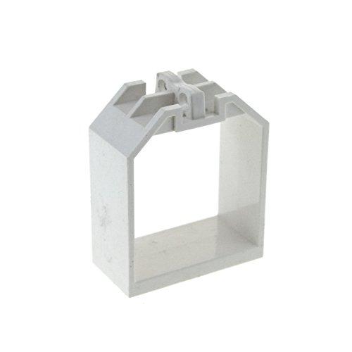 Bausteine gebraucht 1 x Lego System Container Rahmen Weiss 2x4x4 Box offen mit Rastgelenk für Tür 30637