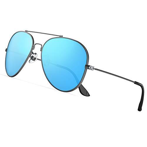 PAERDE Polarisierte Sonnenbrille Herren,Damen-UV 400 Schutz Outdoor lässiger Stil Memory-Metall Sonnenbrille