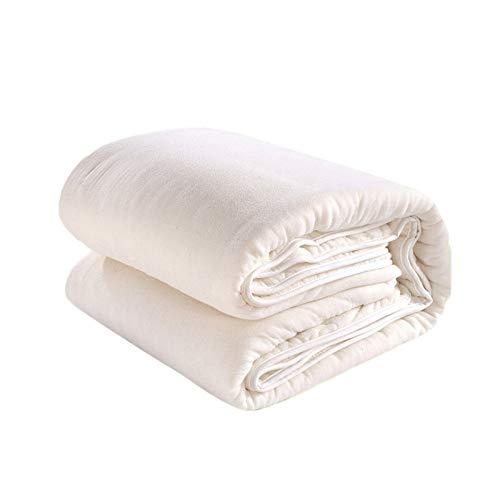 YAHAO Bettdecke/Bettdecke Aus Baumwolle 1 Kg Nicht Allergikergeeignet Winterwarm Weiches Tröster-Set Bettdecke Twin Queen King Size Throw Quilt,White-110 * 140cm -