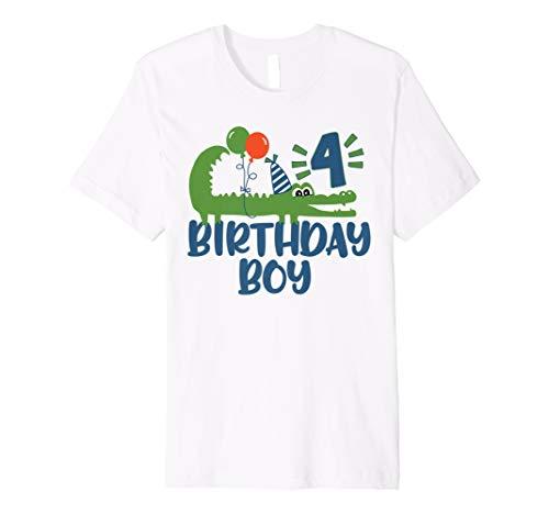 (4. Geburtstag Alligator Shirt für Jungen)
