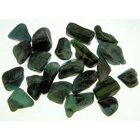 Con tormalina verde, di alta qualità, con pietra di cristallo, successo-Ispirano creatività e abbondanza, materiale e 5 confezioni da 1