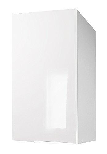 Berlenus cp3hb - mobile alto da cucina con un'anta, 30 x 34 x 70 cm, colore: bianco brillante