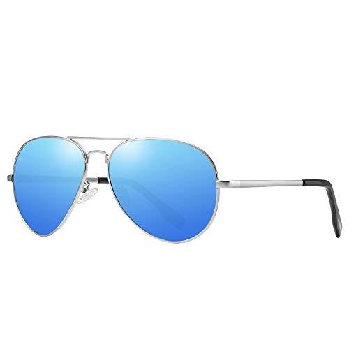 ZJHZJH Aviator Sonnenbrille Für Männer Frauen Leichte Fahrpilot Sonnenbrille Premium Style Classic Shade Outdoor