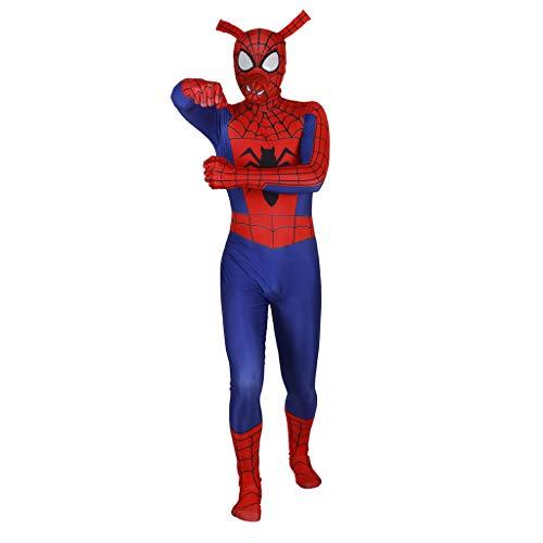 NDHSH Spiderman Parallel Universum Kostüm Kostüm Erwachsene Lycra Overall Outfit Halloween Maskerade Party Prom Cosplay, Child-XS (Spiderman Erwachsene Outfit)