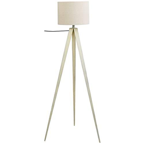 UMI Floor Standing Lamp Fabric Shade Tripod, White, 60''
