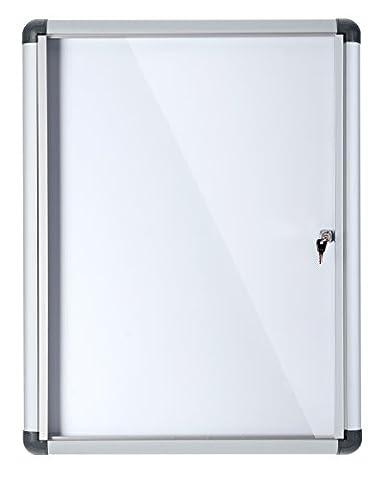 Bi-Office Vitrine d'Affichage Interieur Enclore Extra, Tableau Blanc Magnétique Verrouillable, 710 x 971 mm, 9xA4