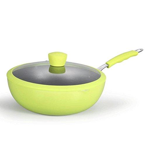 ZHAOJNG Wok No Stick Pan No ahumador 28cm Fried Wok