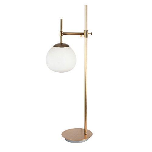 Lampe à poser, lampe de table, lampe de chevet, style Moderne, Art Deco, Armature en metal couleur or, Abat-jour en verre couleur blanc, ampoule non incluse, 40 W E14 220V -240V