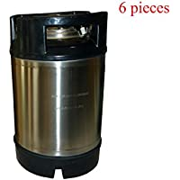 6 pieza 2.5 Gallon (9 L) New Cornelius Style Keg Ball Lock