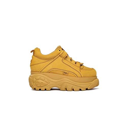 Buffalo Classic Low Gialle Nabuk Sneaker mit Zeppa - BN15330971, Gelb - gelb - Größe: 38 EU