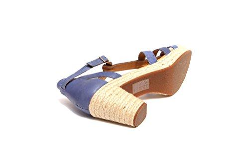 flip*flop originals Damen Sandaletten Sandalen Pumps Schuhe Mod. Coconut Blau (Pool/Nature)