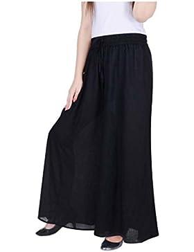 Indian Handicrfats Export WELORA Regular Fit Women's Black Trousers