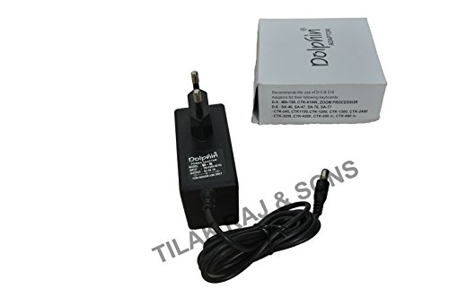 Dolphin D-5 AC Adaptor 9.0V Power Adaptor for Casio Keyboard & Zoom Processor  available at amazon for Rs.449
