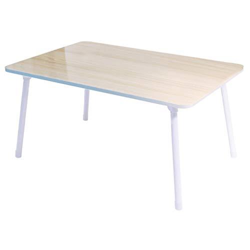 Vimele Lit Table Pliante Ordinateur Portable Table Dortoir Lazy Petit Bureau Extérieur Léger Portable Multi-Fonction Bureau (Couleur : B)
