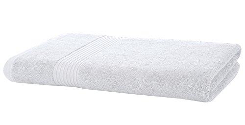 Luxuriöse Handtücher, ägyptische Baumwolle, 700g/m², Jumbo-Größe, weich gekämmt, saugstark, hochwertig, in 7Farben erhältlich, Striped White, Jumbo Bath Sheet