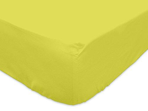 Soleil d'Ocre 615821 Drap Housse Uni Coton 57 Fils Vert 200 x 180 cm