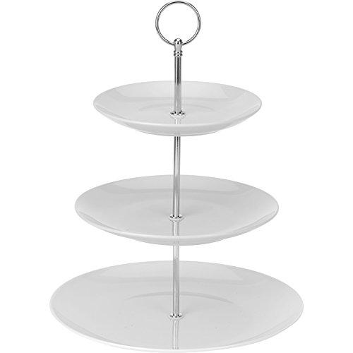Runde Servierplatte Große, (Etagère aus Keramik mit 3Etagen, Servierplatte, Porzellan)