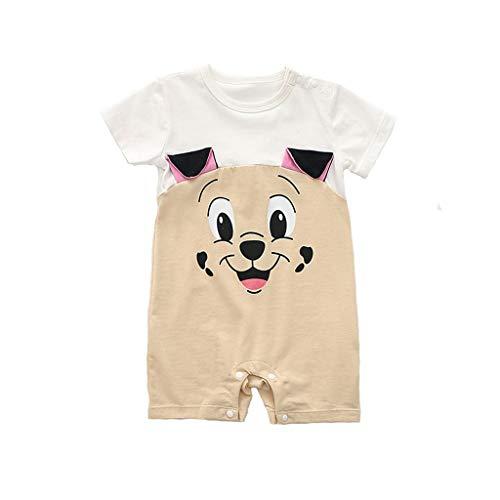 Junge Kleidung,Neugeborene Kinder Baby Jungen Cartoon Tier Strampler Overalls Outfits Baby Crawlersuit(Weiß,6-12 Monate/80)