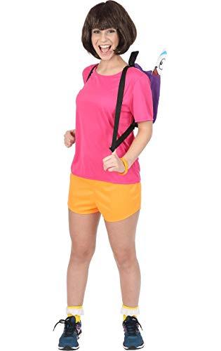Kostüm Explorer Dora - Meine Damen Spanischer Spanisch Mexikanischen Forscher Karneval Kostüm Small
