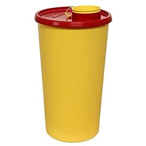 Kanülenabwurfbehälter 2500ml aus Plastik Meditrade Kanülensammelbehälter