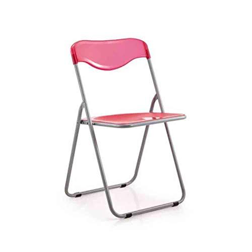 WGXX Klappstuhl Computer Stuhl, Kunststoff Klappstuhl, Büro Ausbildung Stuhl (Farbe : Rose rot)
