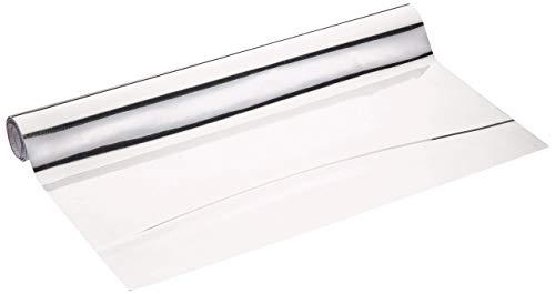 WENKO 5108013500 Klebe-/ Spiegelfolie, zuschneidbar, Polyethylenterephthalat, 58 x 150 cm, silber (Selbstklebende Silberfolie)