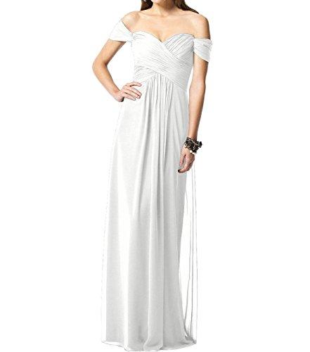Leader de la beauté femmes longue à manches Cap Demoiselle d'Honneur en mousseline de soie Parti Peignoir Blanc