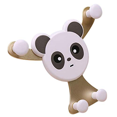 MiPao,Universal Panda Bear Car Car Holder Air Outlet Mount Bracket Gravity Sensing Stand Snap-Typ Phone GPS Navigation Holder Golden,Handyhalter Fürs Auto,Handy Autohalterung,Handyhalter,Au -
