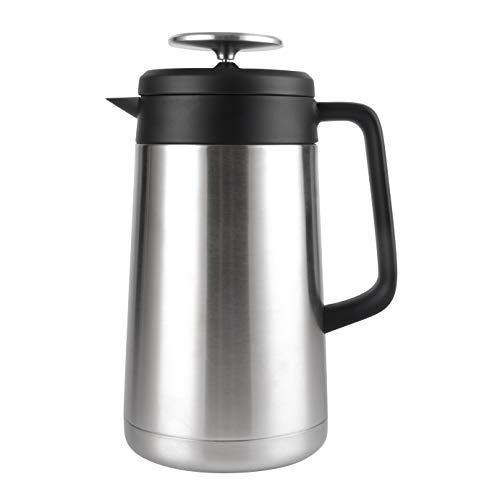 Cresimo Kaffeebereiter aus Edelstahl, doppelwandig, wärmeisolierend, Vakuum-Wärmespeicherung, für Kaffee- und Teeliebhaber